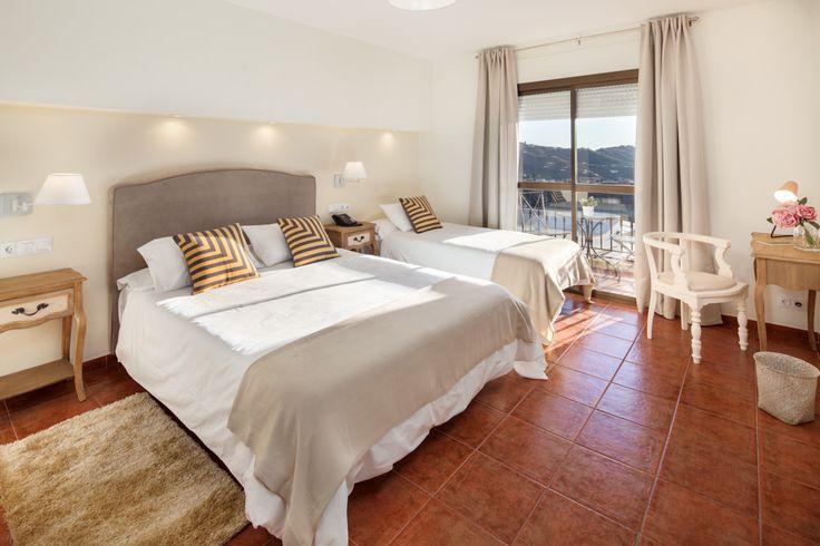 Idea de estilo rústico romántico para una habitación de hotel rural