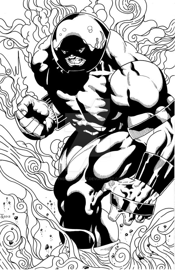 Juggernaut Final Ink By Tyndallsquest Adult Coloring Pages