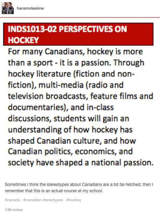 the gallery for gt canadian stereotypes tumblr