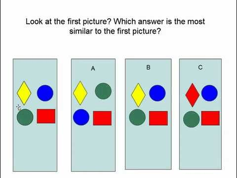 Stanford Binet IQ test sample for the first grade entrance exam Part 1