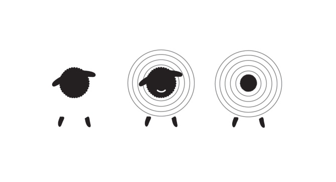 How cute is this logo by Emma Robertson for Shabby Sheep Yarn Boutique?