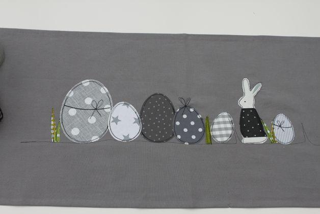 Ostertischdeko - Oster-Tischläufer ♥WiR ♥ OsTERN♥ Limitiert! - ein Designerstück von milla-louise bei DaWanda
