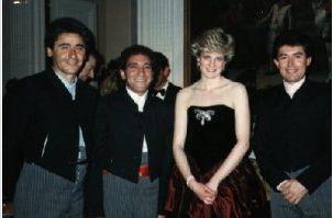 March 21, 1987: Princess Diana attending a reception for Spanish Ambassador Jose Joaquin Puig de la Bellacasa at the Spanish Embassy in London. (LW21)