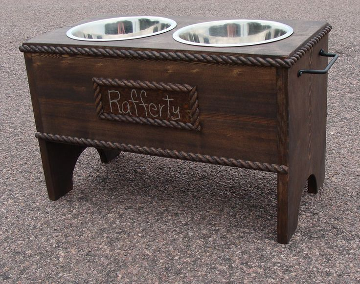 feeders bowl on pallet wooden feeder bowls shop dog pet stand personalized elevated custom wanelo