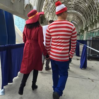 The two most elusive people on the planet in one room! | 25 Badass Couple Costumes From Comic-Con You Need To See #CoupleCostumes