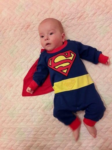 84f1b7618 Baby Boy Superman Romper (Halloween