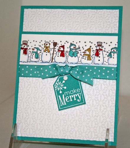 Christmas Holiday Greeting Cards X4 Completed LOT KIT Stampin UP Snowman FUN | eBay