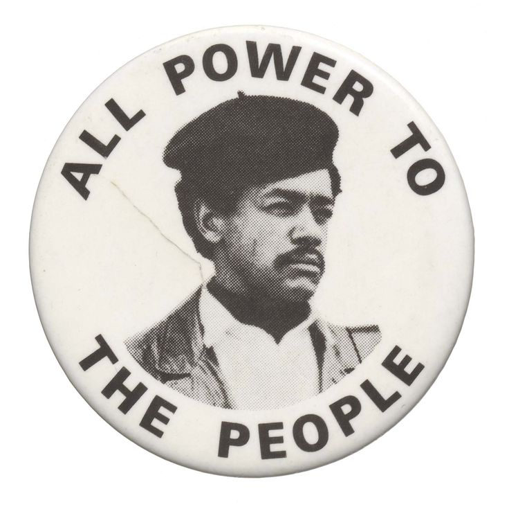 Black Power protest button. Collection of the Smithsonian National Museum of African American History and Culture.