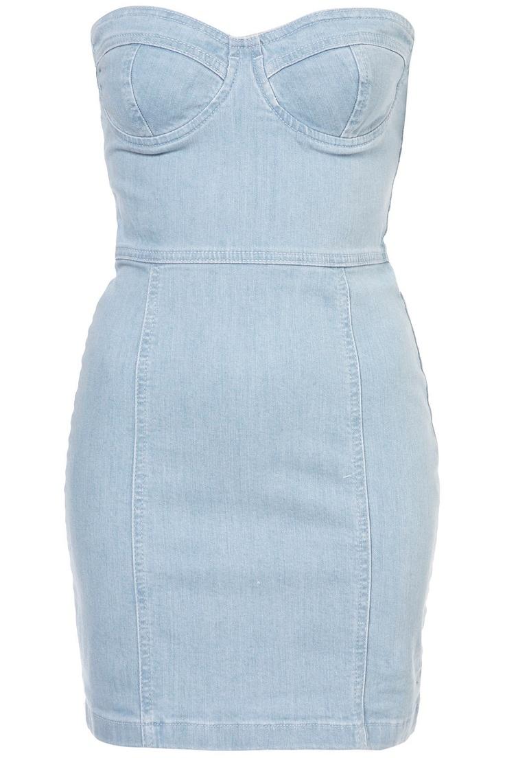 TopShop, Denim Cupped Bandeau Dress: Bandeau Dress, Summer Style