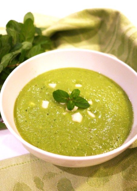 #Thermomix #recipe Pea Soup with Mint and Halloumi