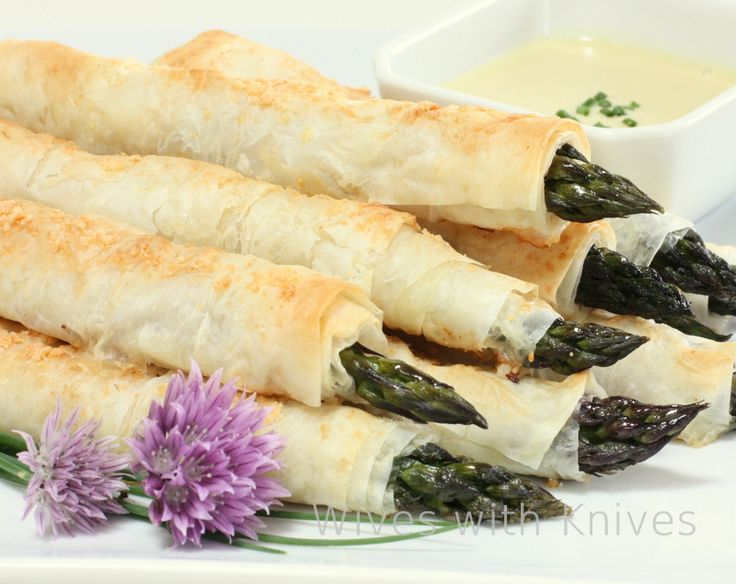in crispy phyllo prosciutto wrapped asparagus asparagus spears phyllo ...