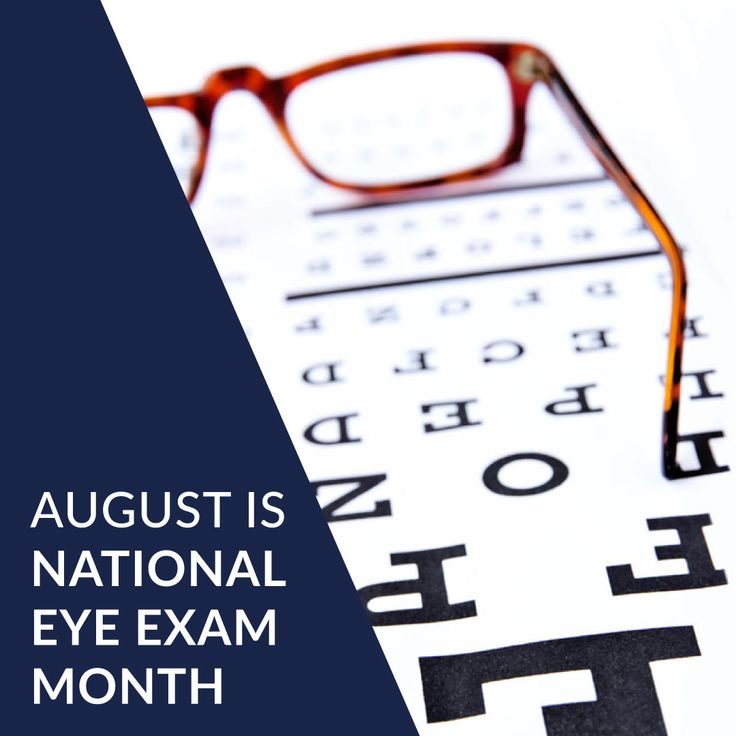 Did You Know That August Is National Eye Exam Month This