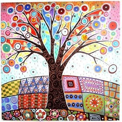GP Canvas Traditional Tree Print with Jewels Buy Now Price: $24.00