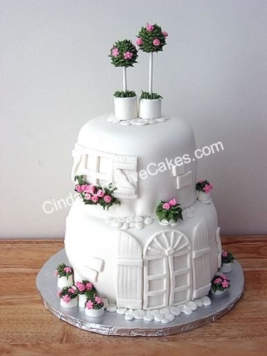 cake with door and window