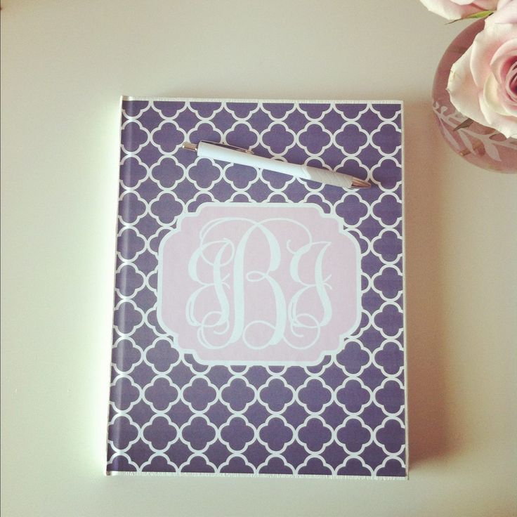 Tip:  Slide our free monogrammed printables into your binder covers for a chic back to school look!