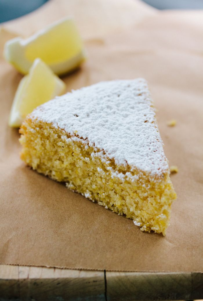 Lemon polenta cake - easy, with a delicious crunch. I didn't bother ...