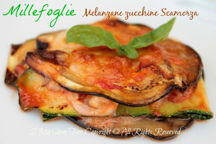 Millefoglie melanzane e zucchine con scamorza