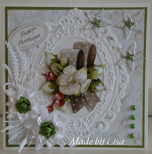 Voorbeeldkaart - Kerstkaart, - Categorie: 3D - Hobbyjournaal uw hobby website