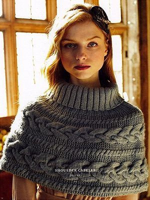 79 best Capelets images on Pinterest   Knitting stitches, Knitting ...
