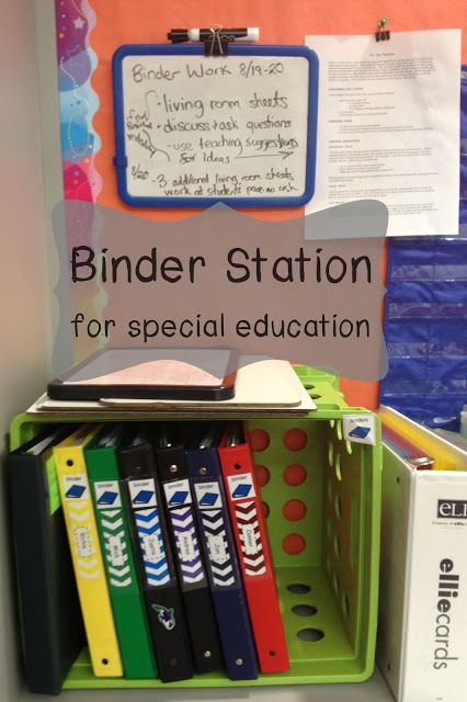 How to set up a binder station for individual work #specialeducation