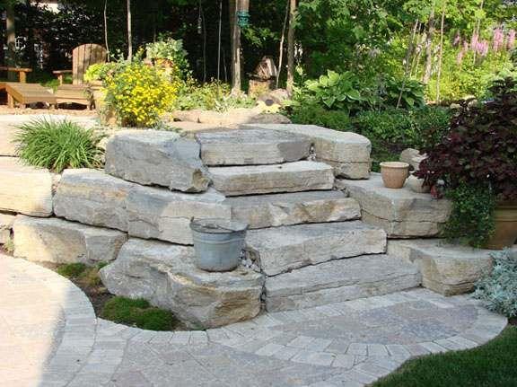 715 best images about landscaping a slope on pinterest for Hillside rock garden designs