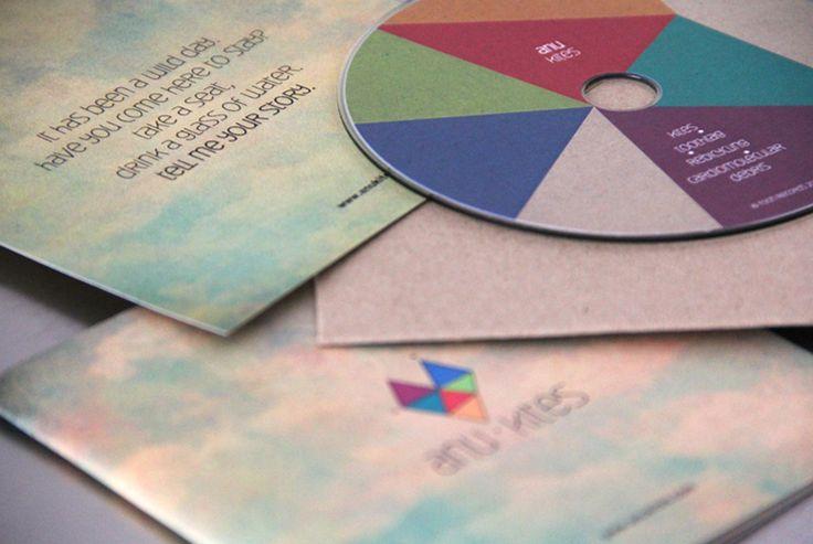 Anu-Kites press kit design by Elia Laourda www.elialaourda.com #anu #kites #presskit #clouds #sky #cd #packaging #packagingdesign