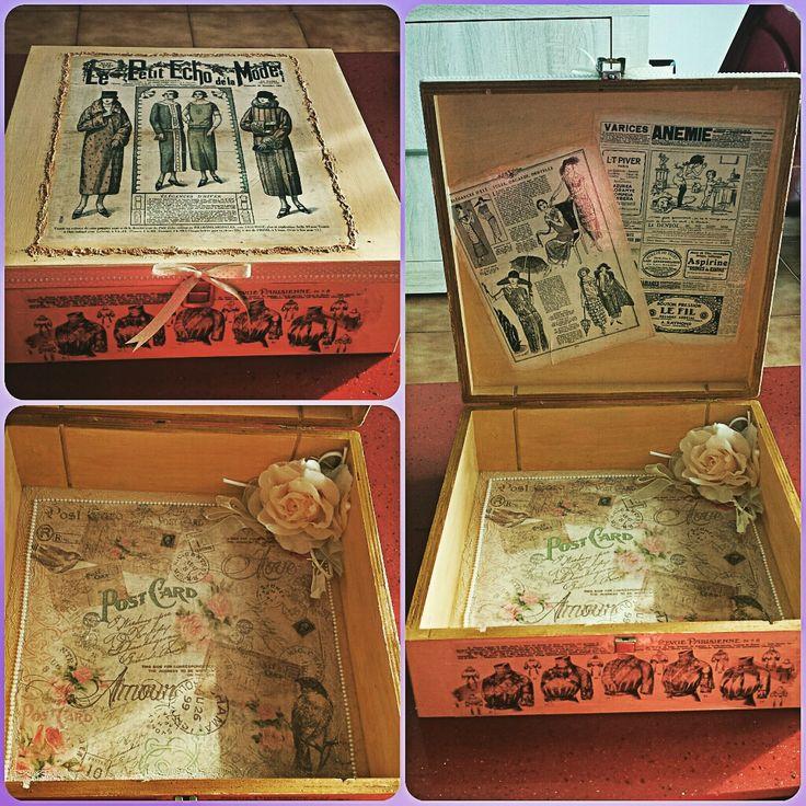 #decoupage #scatola #wedding #fattoamano #handmade