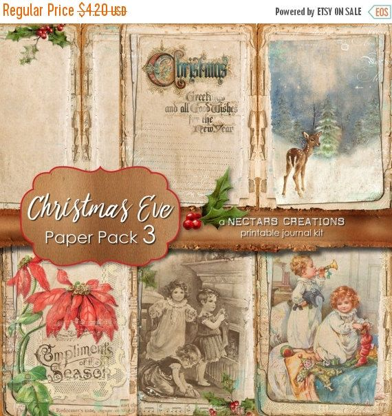 ON SALE CHRISTMAS Eve_Pp3 Printable Junk by NectarsCreations