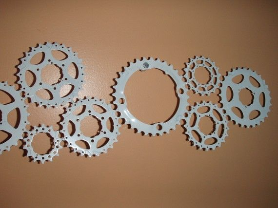 Bike gear wall art