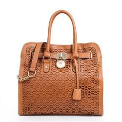 Welcome To Our Michael Kors Hamilton Perforated Logo Large Tan Totes Online Store