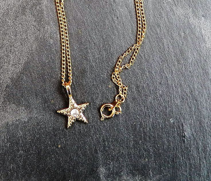 star necklace, gift for her, charm necklace for a wife, birthday gifts, jewelry gift, jewellery idea for a best friend, stars with jewels, by AlsCraftyCorner on Etsy