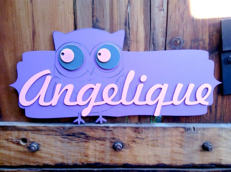 Laser Cut Name with Painted wood and Pencil Detail