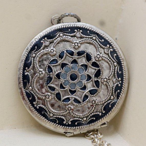 Médaillon médaillon argent cadeau bijoux par emmalocketshop sur Etsy