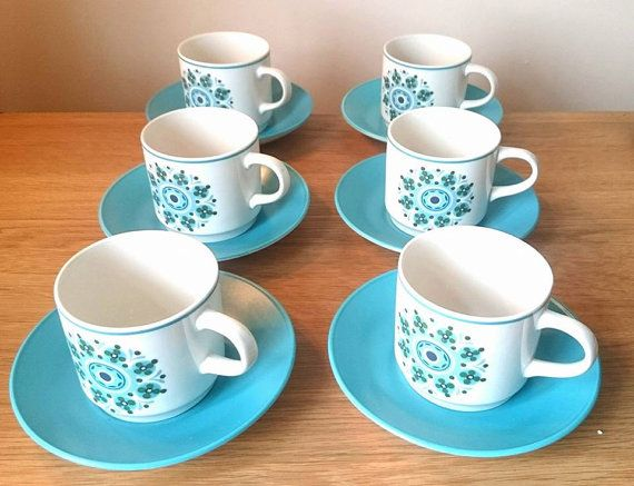 Vintage Cups and Saucers Floral Johnson Brothers Ironstone