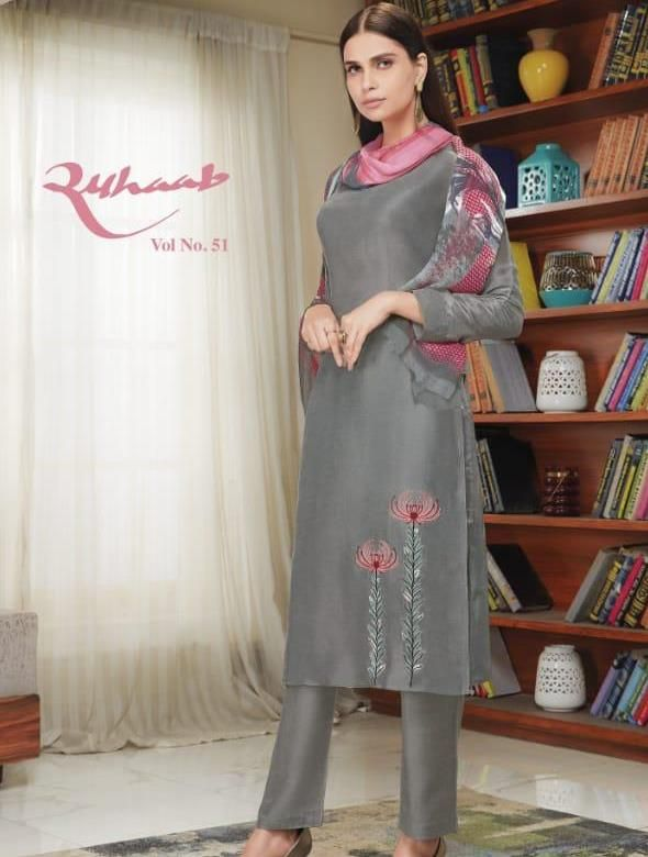 ad4dbf7f8b ruhaab vol 51 pashmina embroidery salwar kameez catalogue wholesale -  Krishna Creation