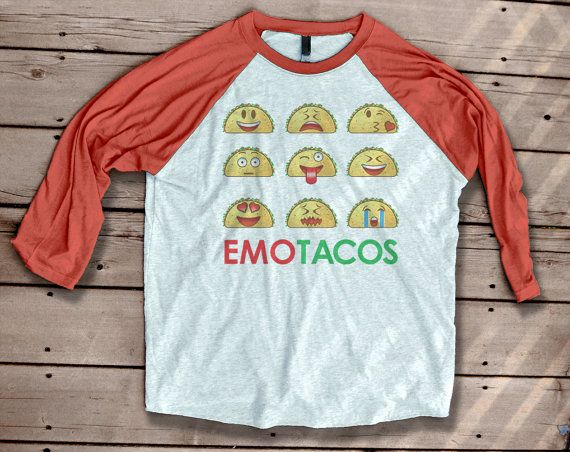 Taco Tuesday cute emoji graphic tee  emoticons  funny