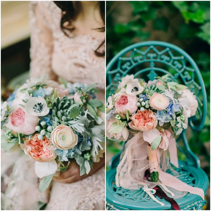 Paper flowers bridal bouquet - shaby chic2