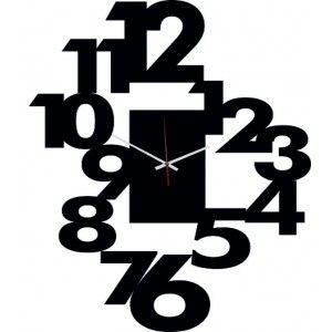 Moderné nalepovacie hodiny víla , farba zlatá .
