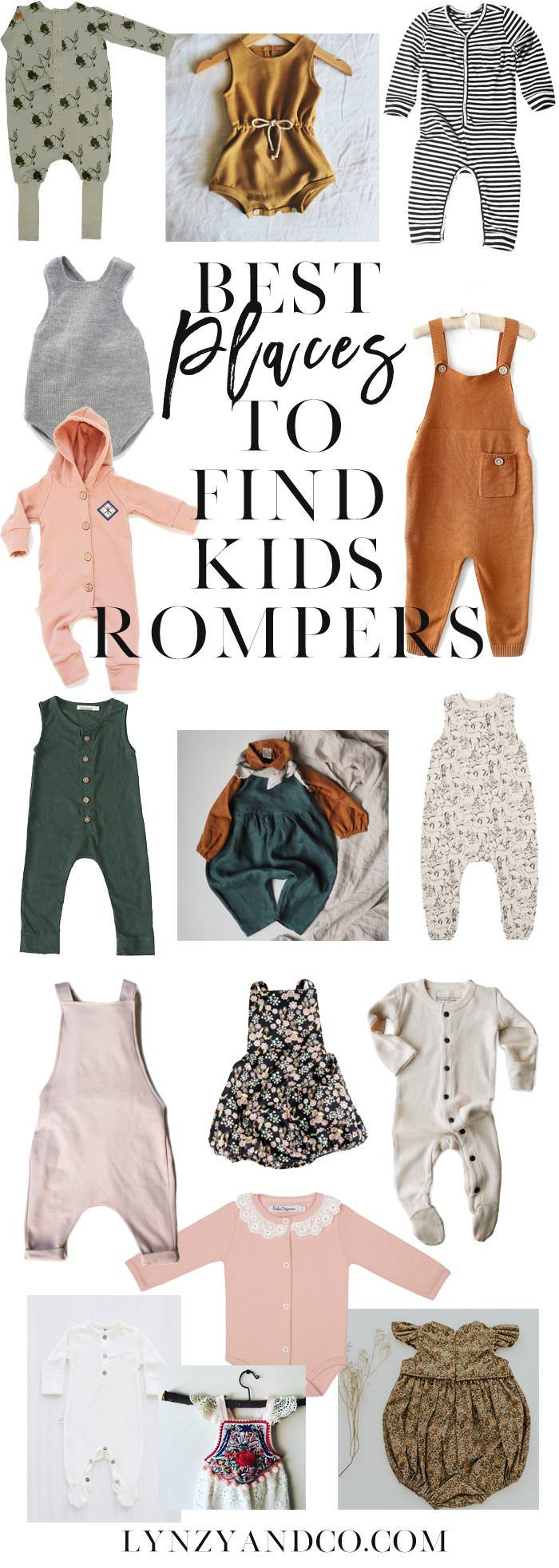 Where to Buy the Best Kid's Rompers // Some shops and brands you probably haven't heard of!