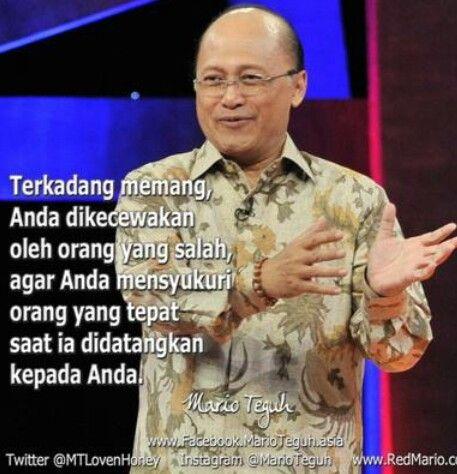Quotes Mario Teguh terkadng anda di kecewakan..