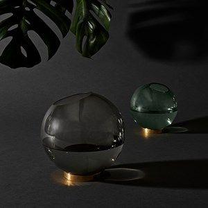 AYTM Vase m/stand Forest/Brass