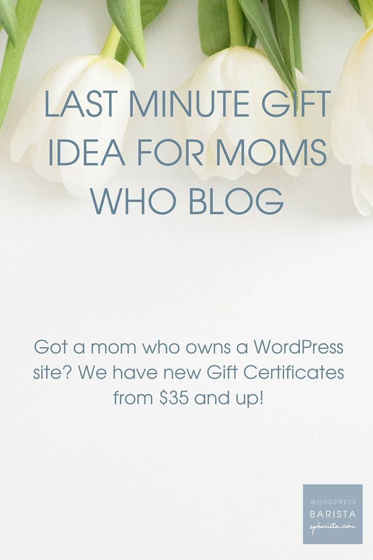 Last Minute Gift Idea for Moms who Blog