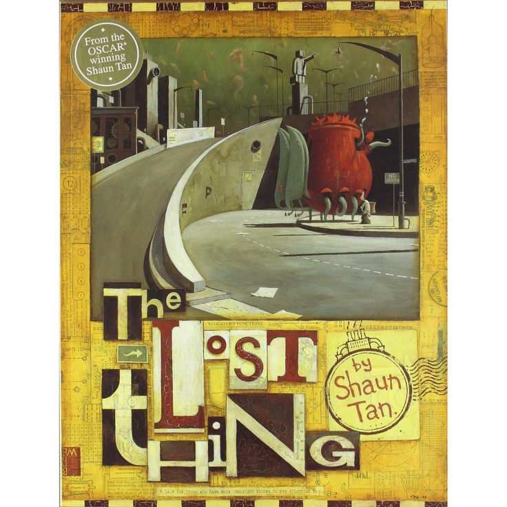 Picture Book and film: The Lost Thing by Shaun Tan.   A story about a boy who discovers a bizarre-looking creature whilst out collecting bottle-tops at the beach. Having guessed that it is lost, he tries to find out who owns it or where it belongs, but the problem is met with indifference by everyone else. In spite of his better judgement, the boy feels sorry for this hapless creature, and attempts to find out where it belongs. Shelf Location: PIC F TAN. 2 copies. Film E009