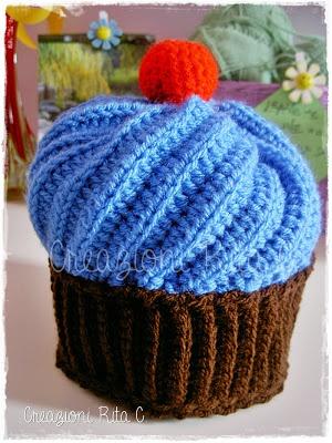 Creazioni Rita C. ... Only Handmade!: Cappello Cupcake a Uncinetto ...Con link Spiegazioni Gratis