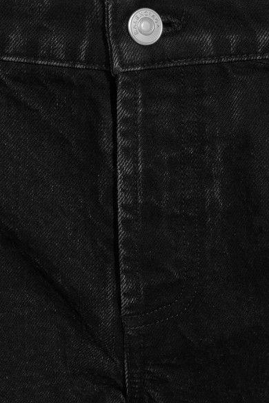 Balenciaga - Rockabilly Cropped High-rise Wide-leg Jeans - Charcoal - FR34