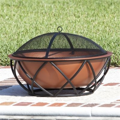 Fire Sense 62241 Barzelonia Round Copper Look Fire Pit #home decor sale & deals Barzelonia Round Copper Look Fire Pit This attractive fire pit features a robust copper-look steel fire bowl which sits inside a stylish supportive ba...