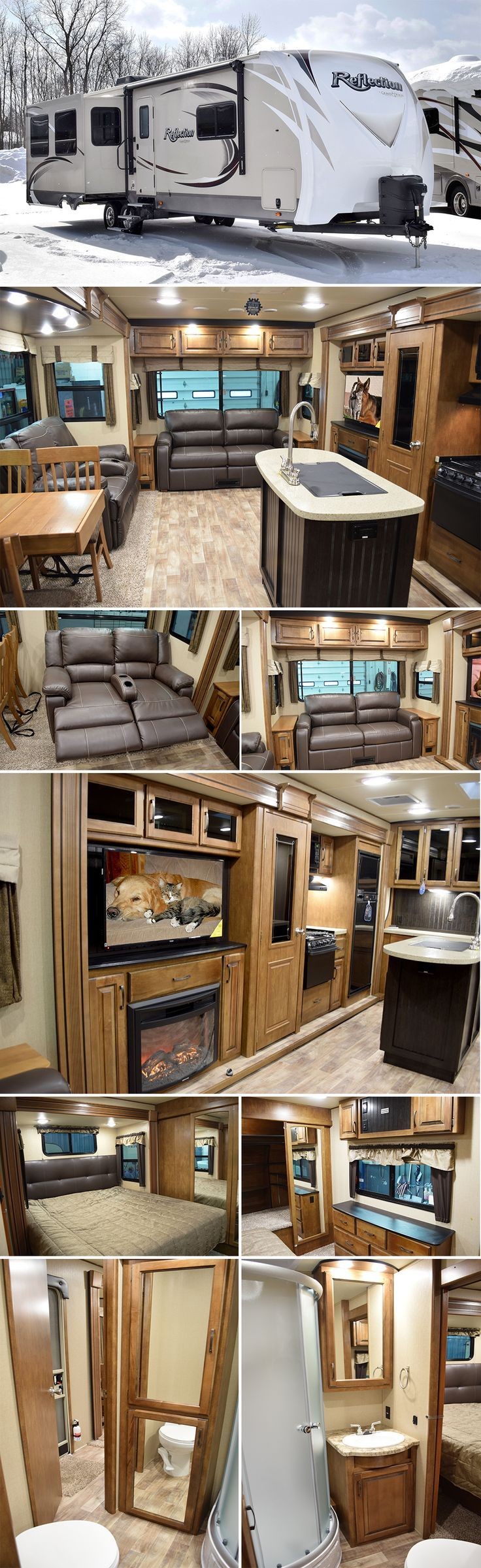 2015 Grand Design REFLECTION 313RLTS Travel Trailer. This new Reflection Travel Trailer RV is super light on mass, but super heavy on amenities! Engineered with the same uncompromised high-end style, convenience, towability and legendary Grand Design RV quality into a super lightweight package that is easily towed by a half-ton truck!
