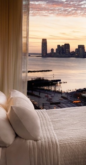 Take in the view while staying at The Standard, High Line in NYC.  Booking available at Luxette.com