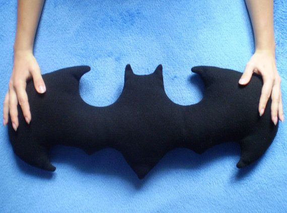 Batman Logo Pillow pattern PDF file by GameOfCraft on Etsy, €4.00
