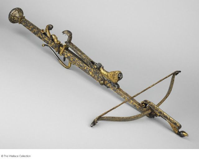 Crossbow (French, c.1720)  Attributed to Francois Aubert -  i like to imagine my steam person would wield one of these
